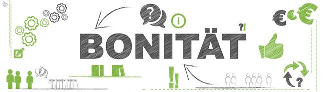 bonitaet logo, fragezeichen, euro zeichen